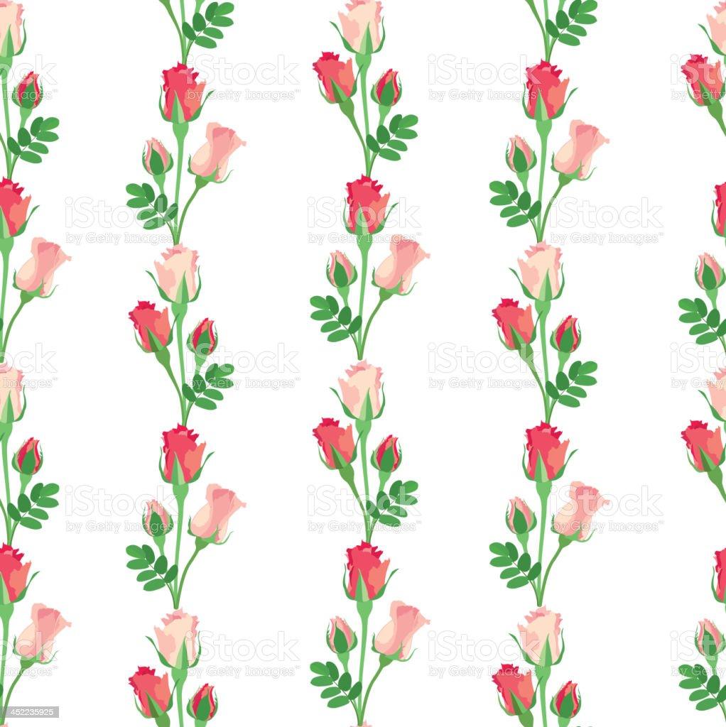 Flowers rose seamless wallpaper royalty-free stock vector art