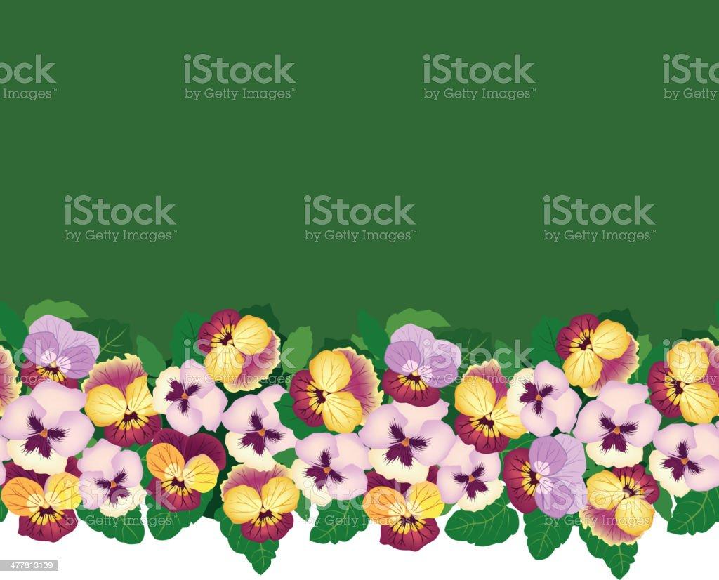 Flowers seamless border  Spring wallpaper royalty-free stock vector art