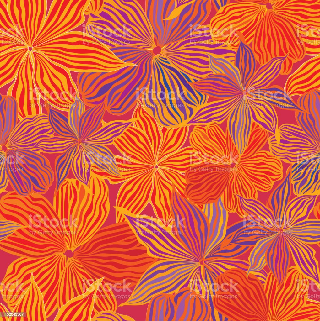 Flowers seamless bright wallpaper royalty-free stock vector art