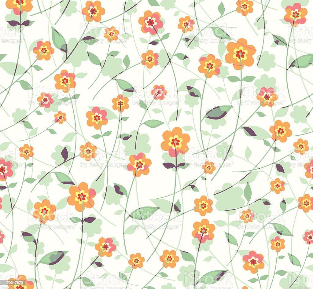 Flowers seamless pattern. vector art illustration