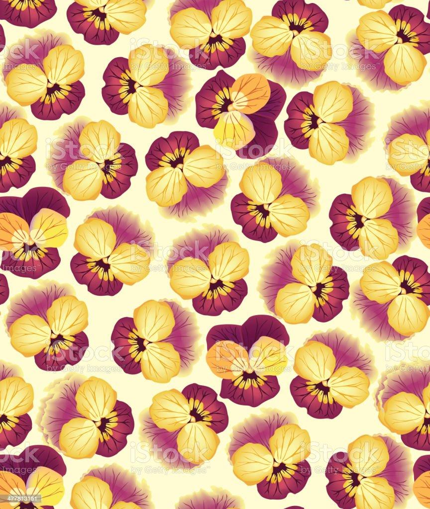 Flowers seamless wallpaper royalty-free stock vector art