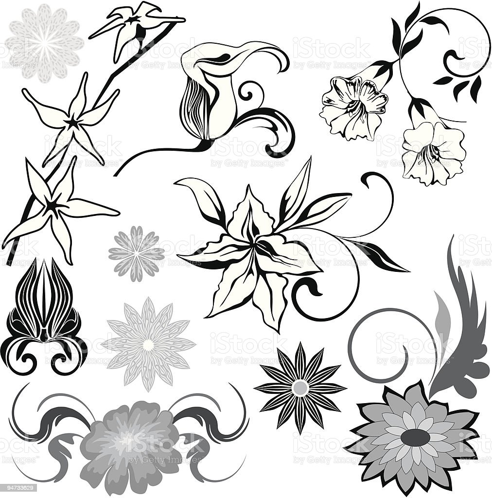 Flowers set I royalty-free stock vector art