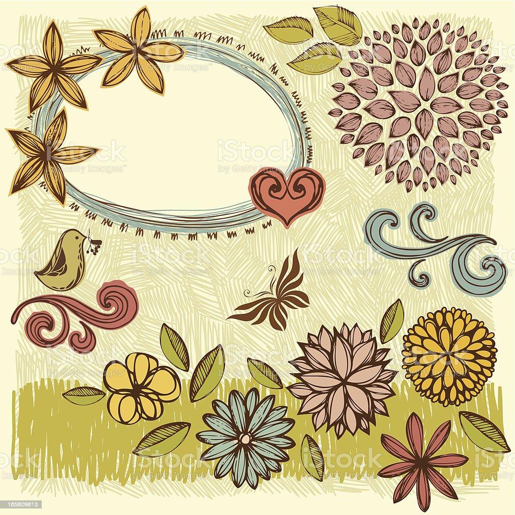 Flowers Set royalty-free stock vector art