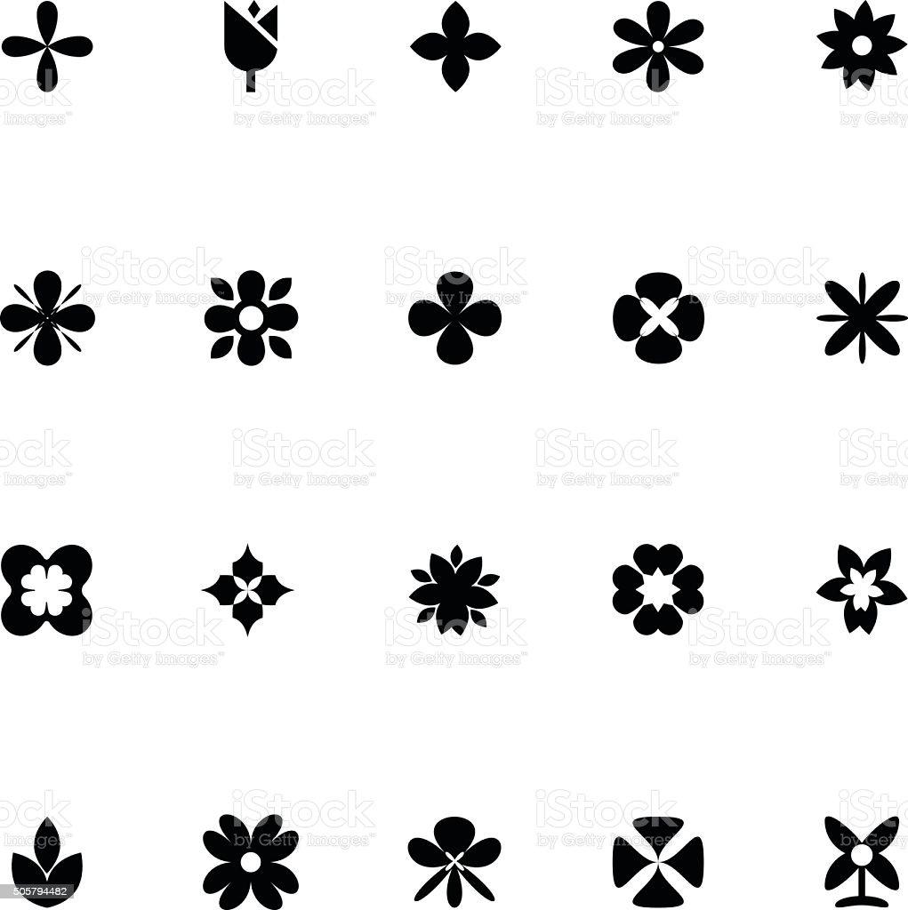 Flowers Vector Icons 1 vector art illustration