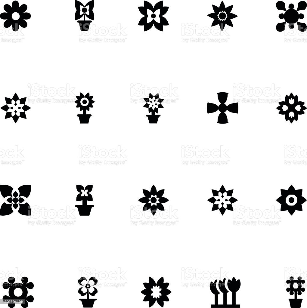 Flowers Vector Icons 5 vector art illustration