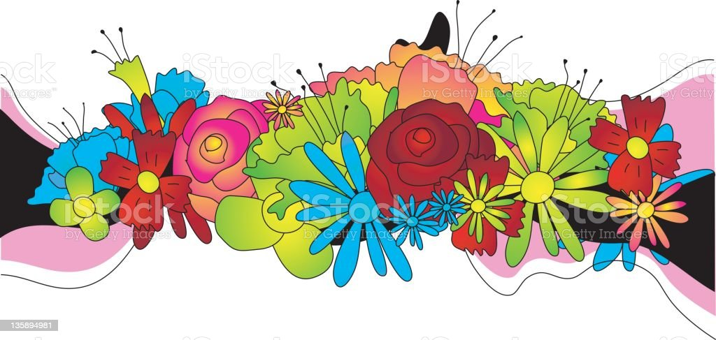 flowers (vector) royalty-free stock vector art