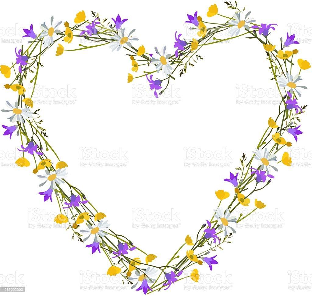 Flowers  wild at heart vector art illustration