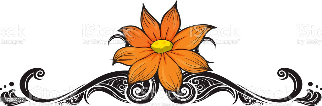 Flowery border royalty-free stock vector art