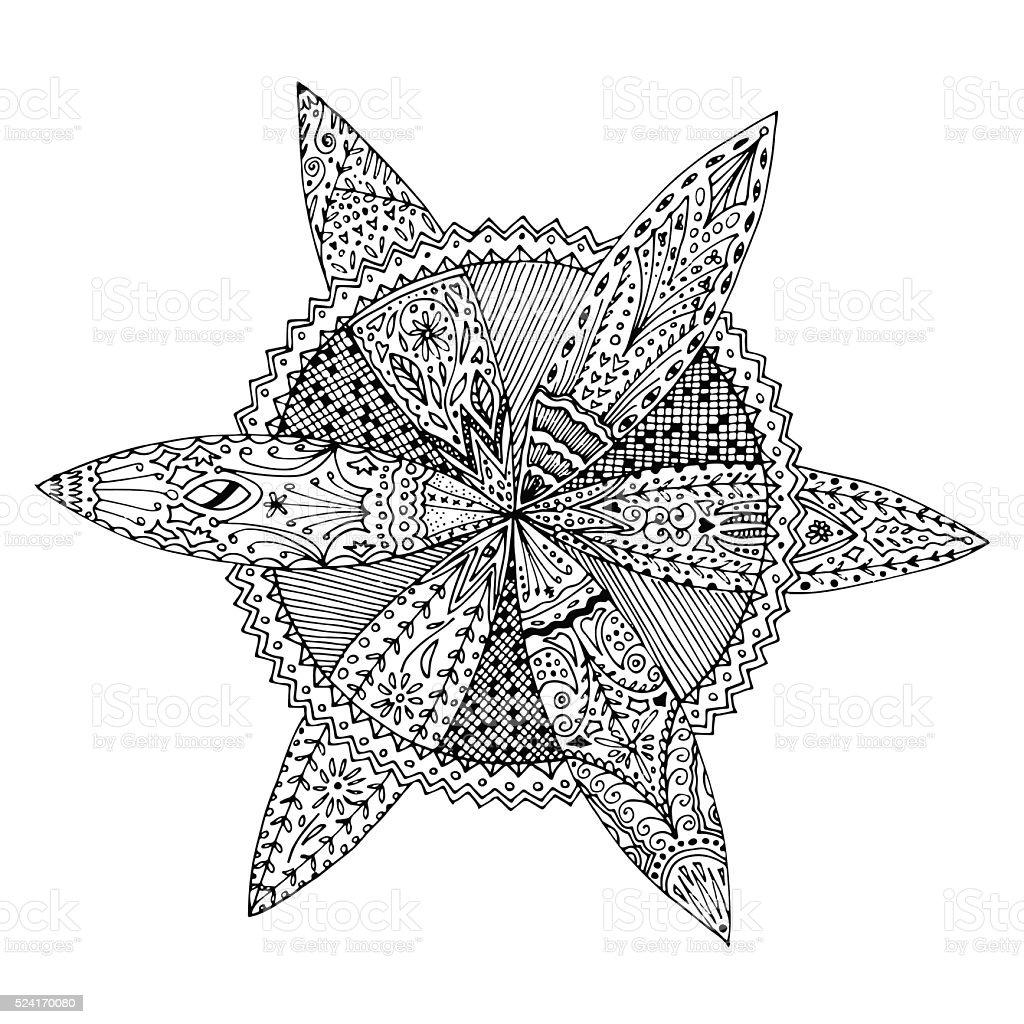 flowery mandala circle coloring page relax antistress