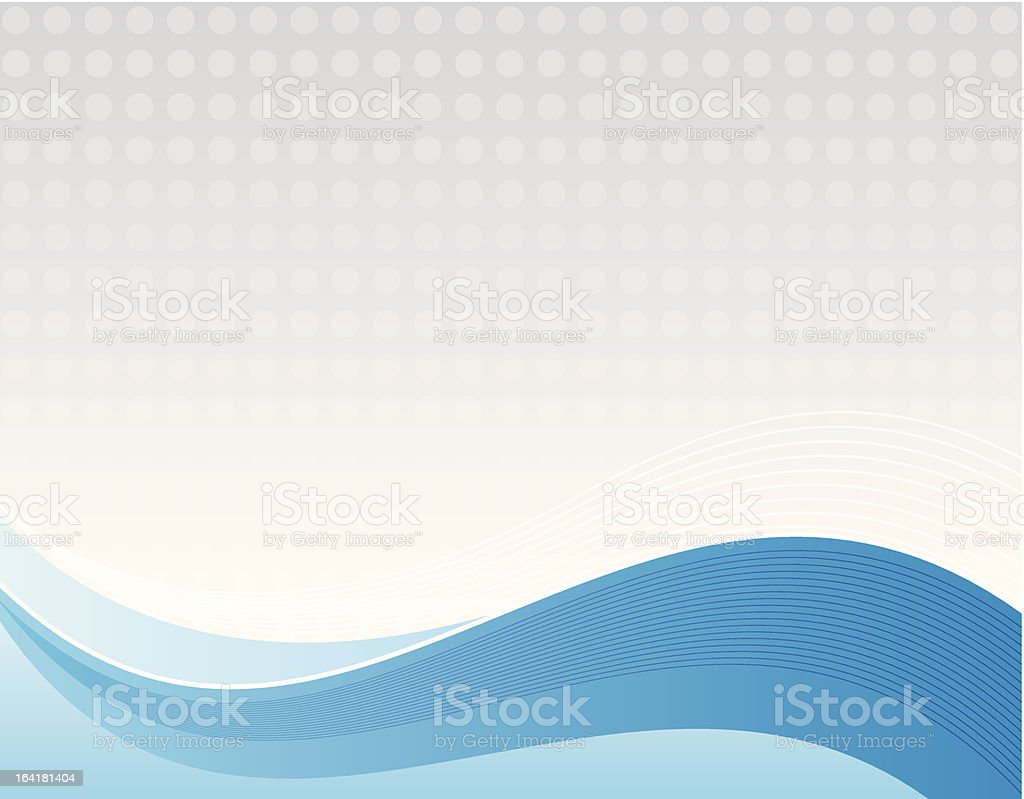 Flowing Blue Background royalty-free stock vector art