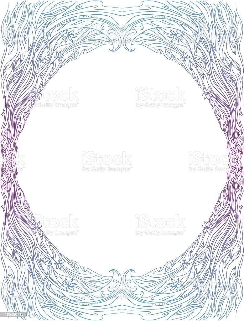Fließende frame Lizenzfreies vektor illustration