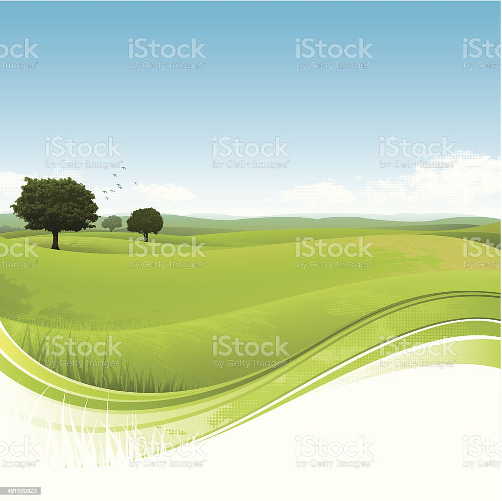 Flowing green field royalty-free stock vector art