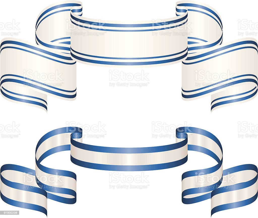 Flowing Ribbons royalty-free stock vector art