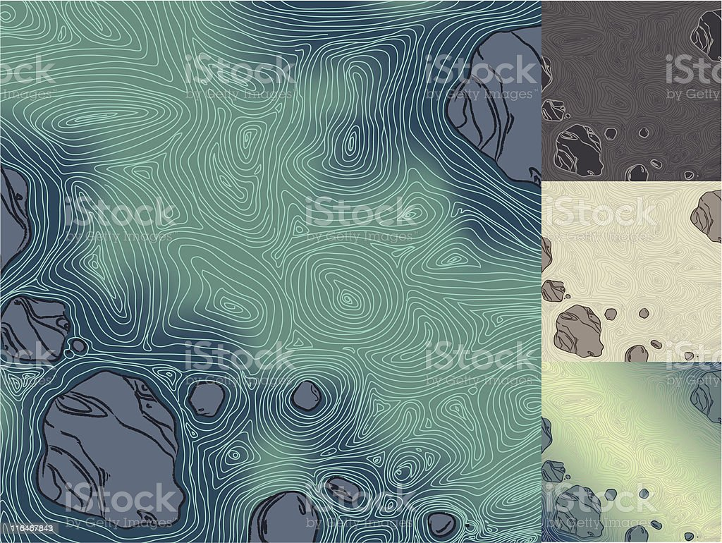Flowing Water vector art illustration