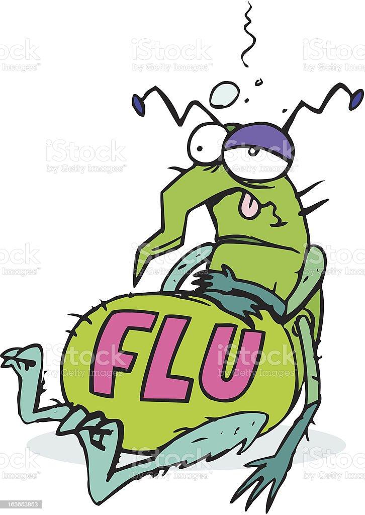 Flu Bug - Illness Cartoon vector art illustration