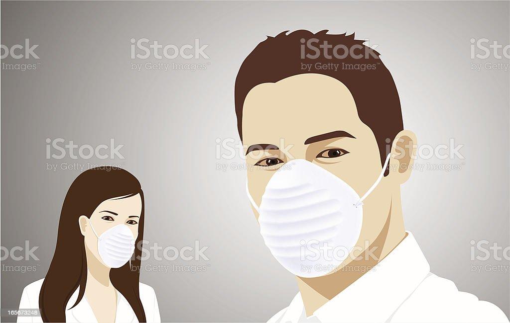 Flu Masked royalty-free stock vector art
