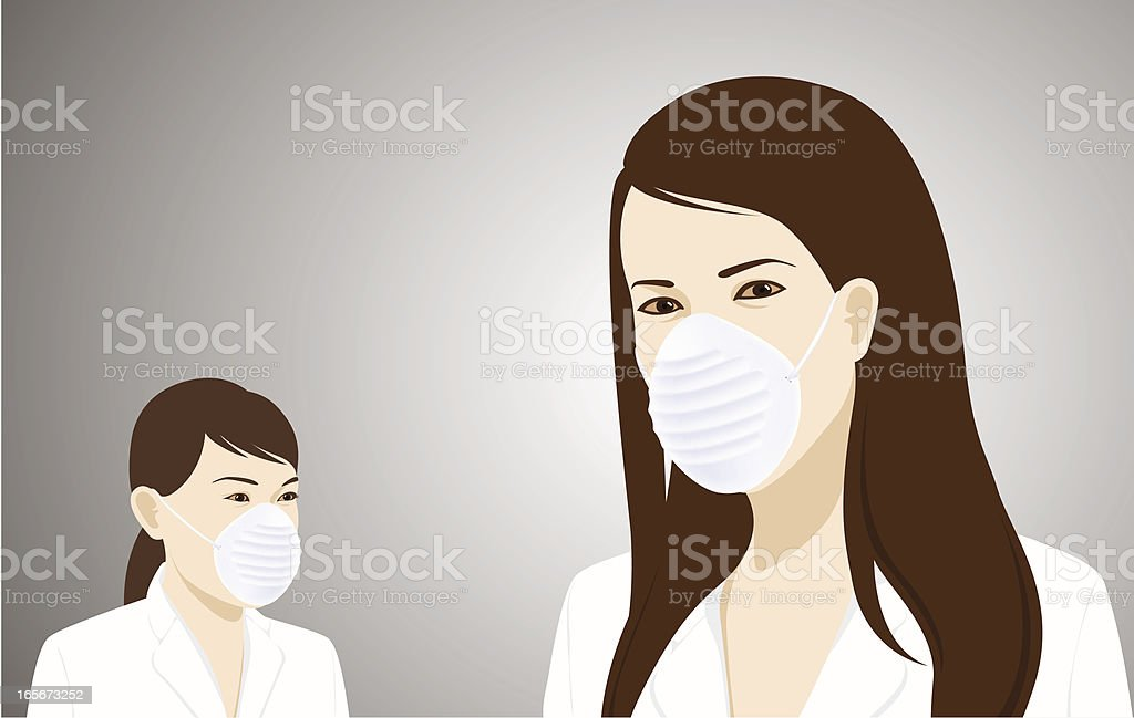 Flu Masked vector art illustration