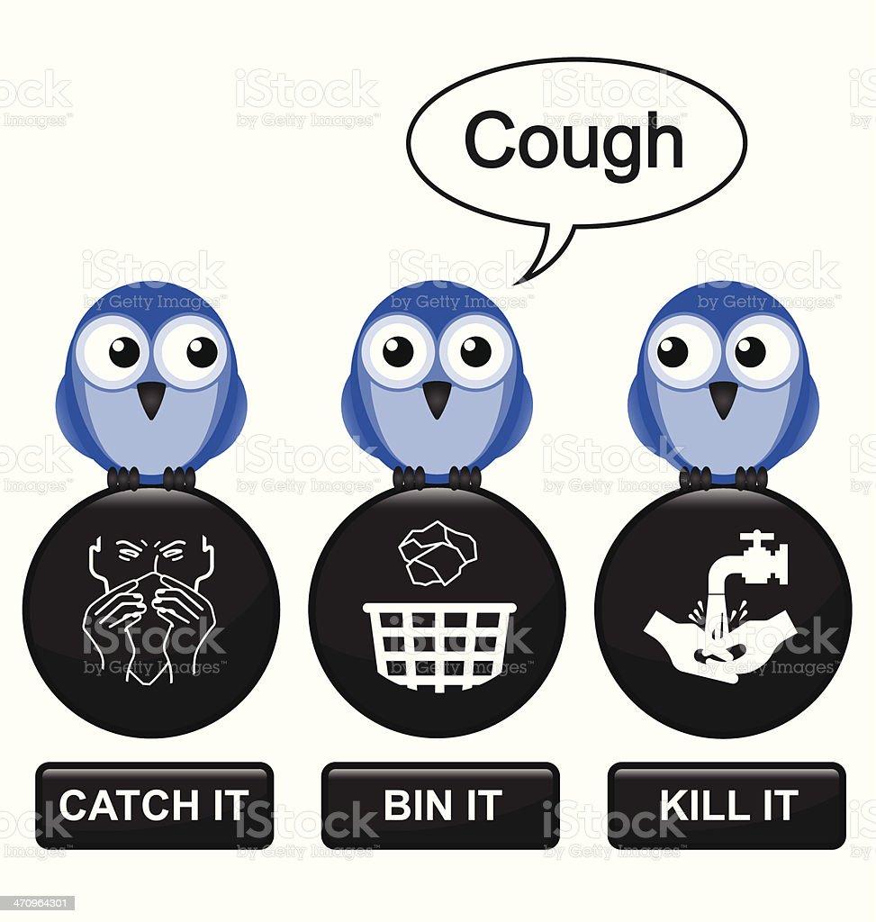 Flu prevention vector art illustration