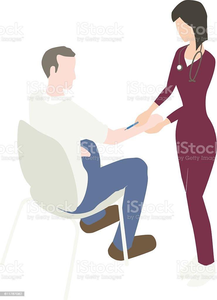 Flu Vaccine Illustration vector art illustration