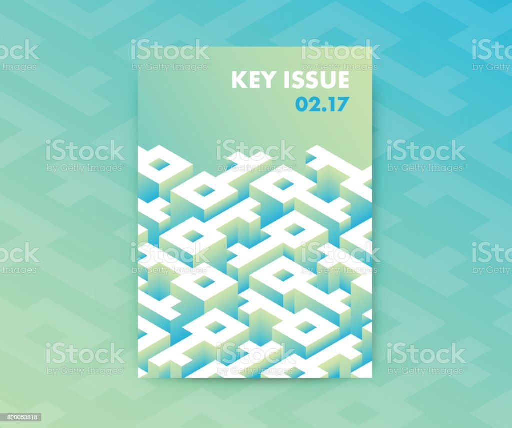 Poster design key - Fluid Gradients Abstract Poster Design With Key Shaped Labyrinth Conceptual Modern Vector Vertical A4 Banner