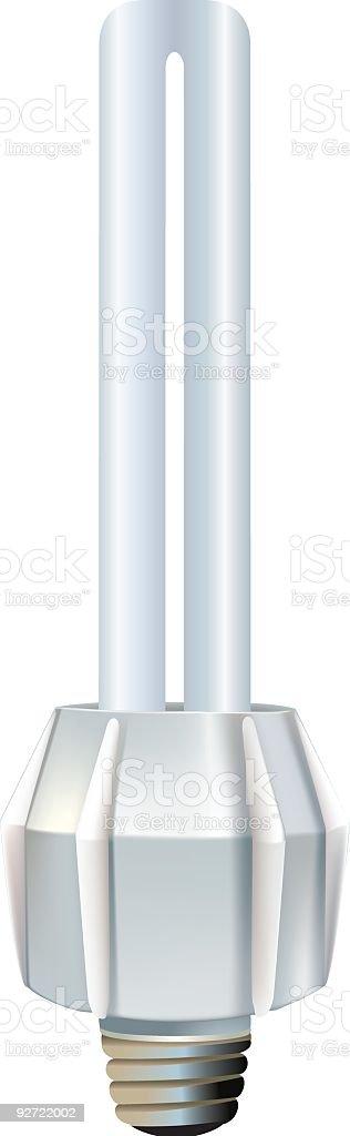 Fluorescent Bulb vector art illustration