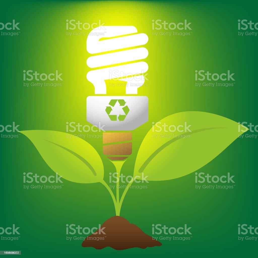 Fluorescent Light Bulb royalty-free stock vector art