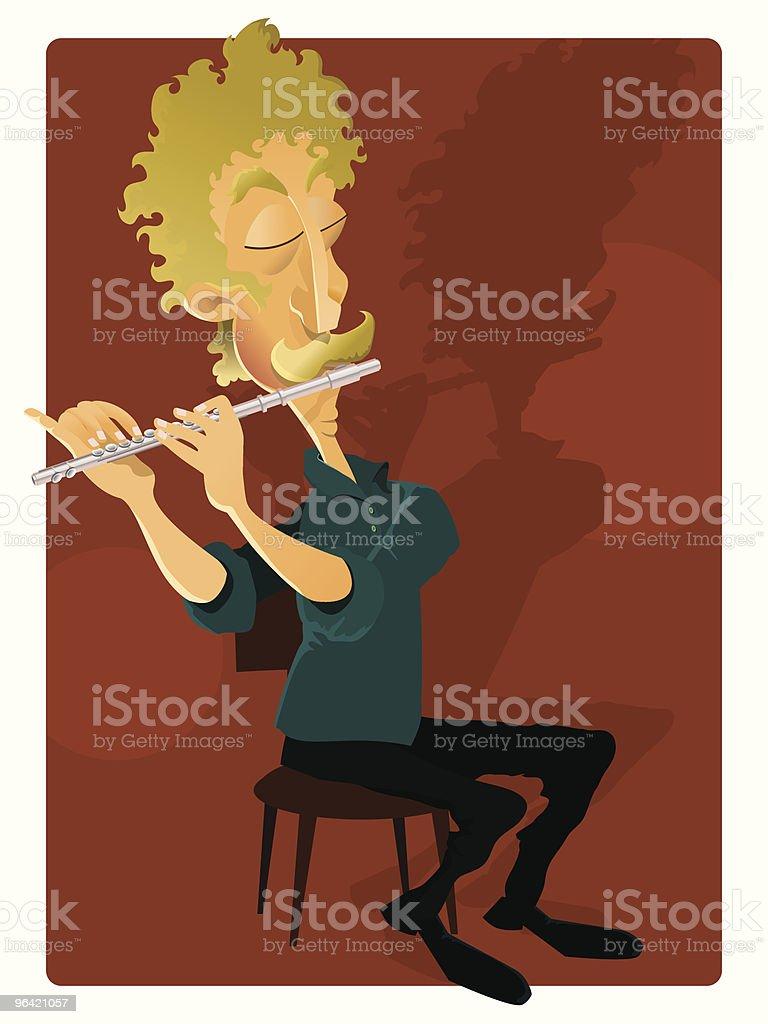 Flute soloist royalty-free stock vector art