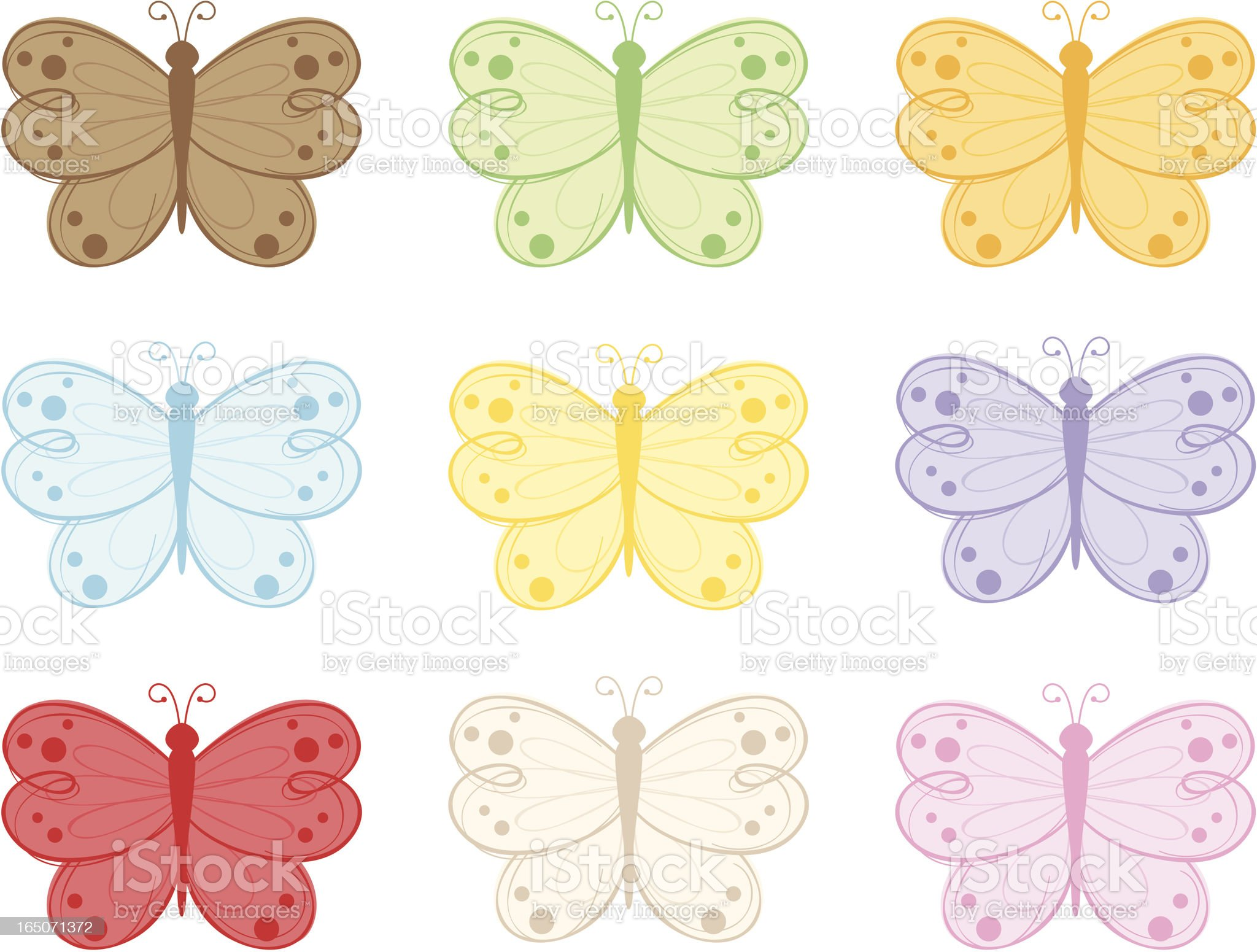 Flutterflies - incl. jpeg royalty-free stock vector art