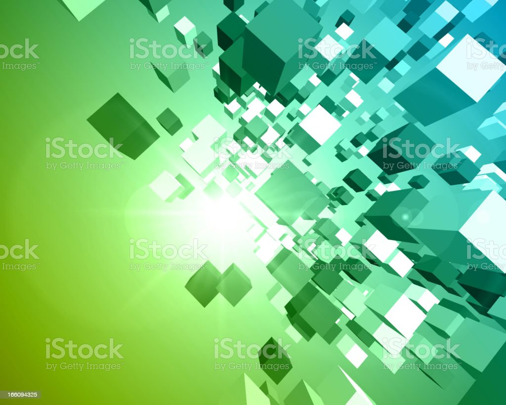 Fly 3d cubes vector background royalty-free stock vector art