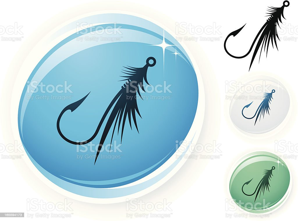 Fly fishing icon royalty-free stock vector art