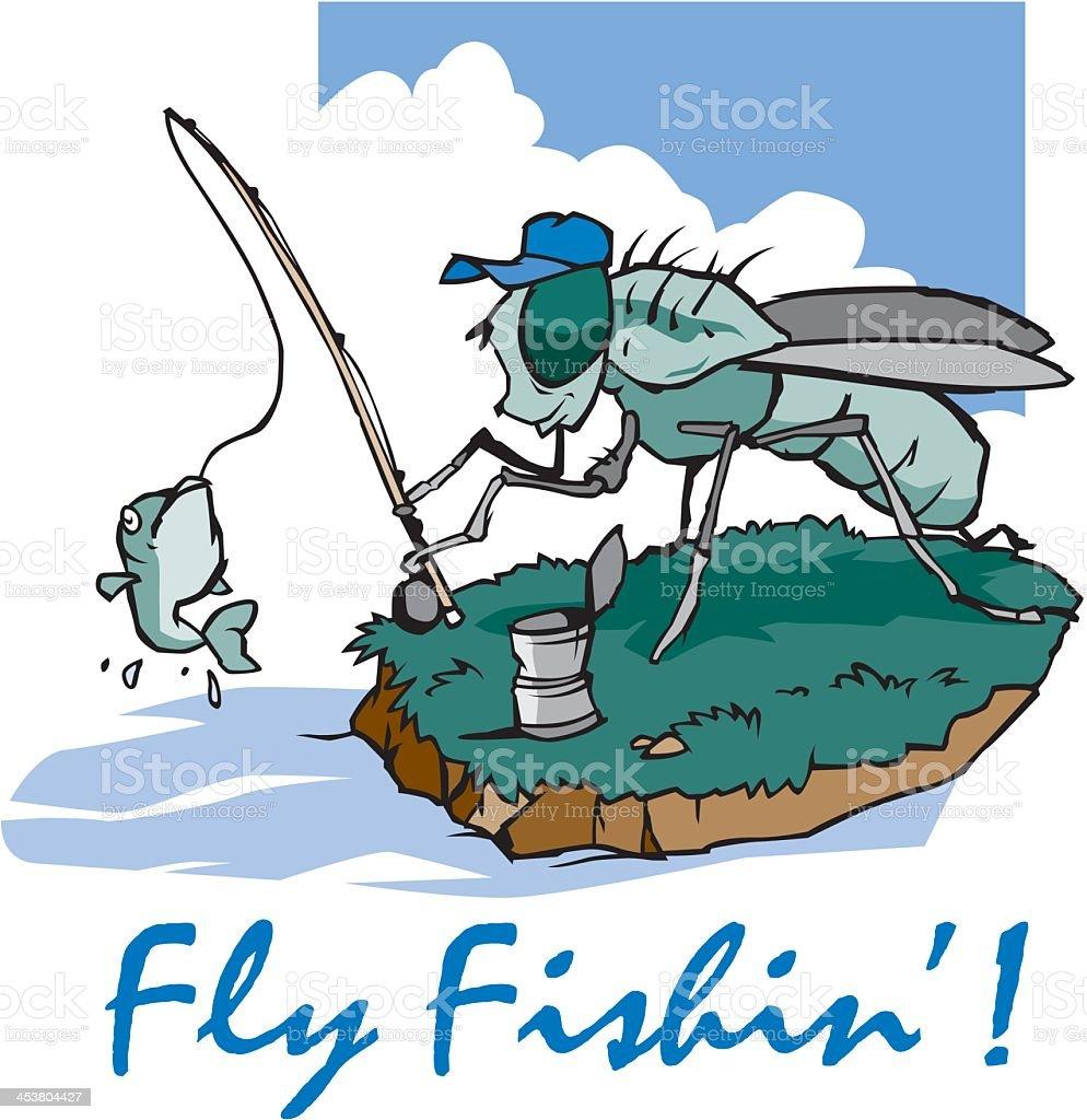 Fly Fishing royalty-free stock vector art