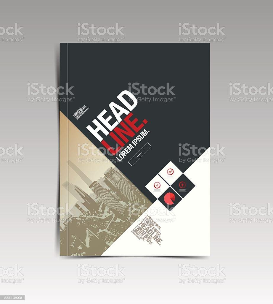 flyer brochure design template vector art illustration
