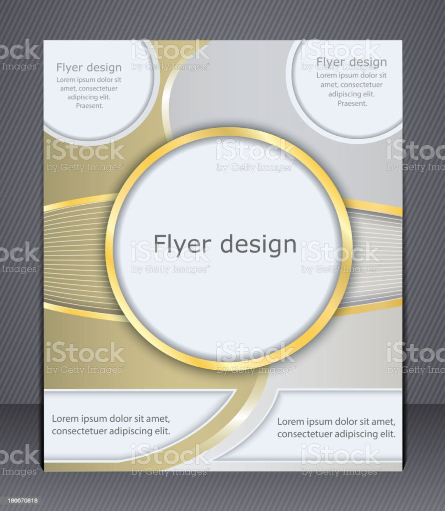 Flyer design in soft shades of yellow. royalty-free stock vector art