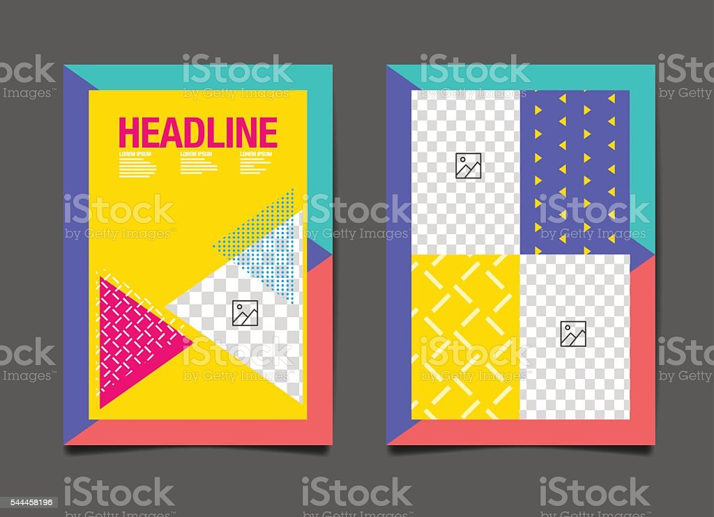 Flyer Design Template, Colorful Abstact Background vector art illustration