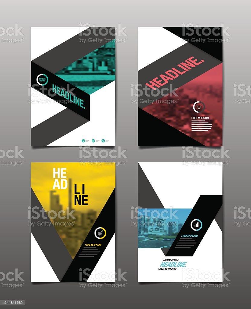 Flyer Design Template vector art illustration