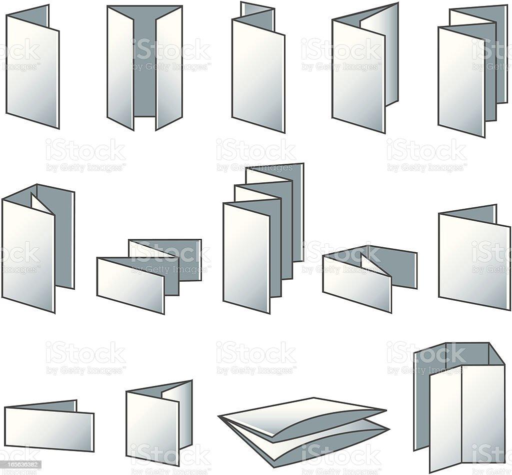 Flyer folding icons royalty-free stock vector art