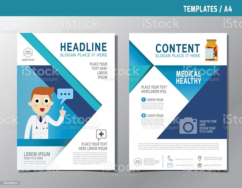 Flyer Leaflet Brochure Template A4 Size Healthcare Medical stock – Advertising Brochure Template