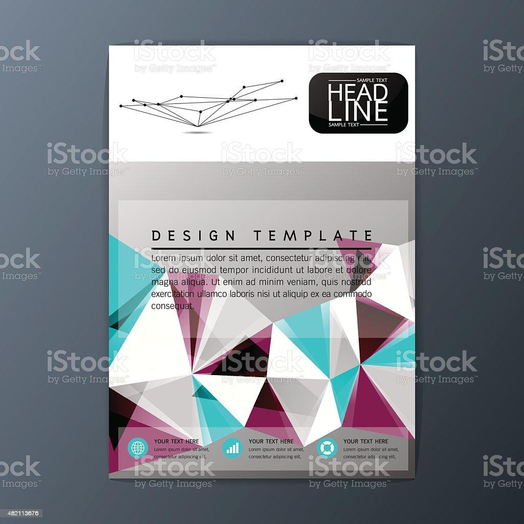 flyer magazine brochure business template abstract background a flyer magazine brochure business template abstract background a4 size vector illustration