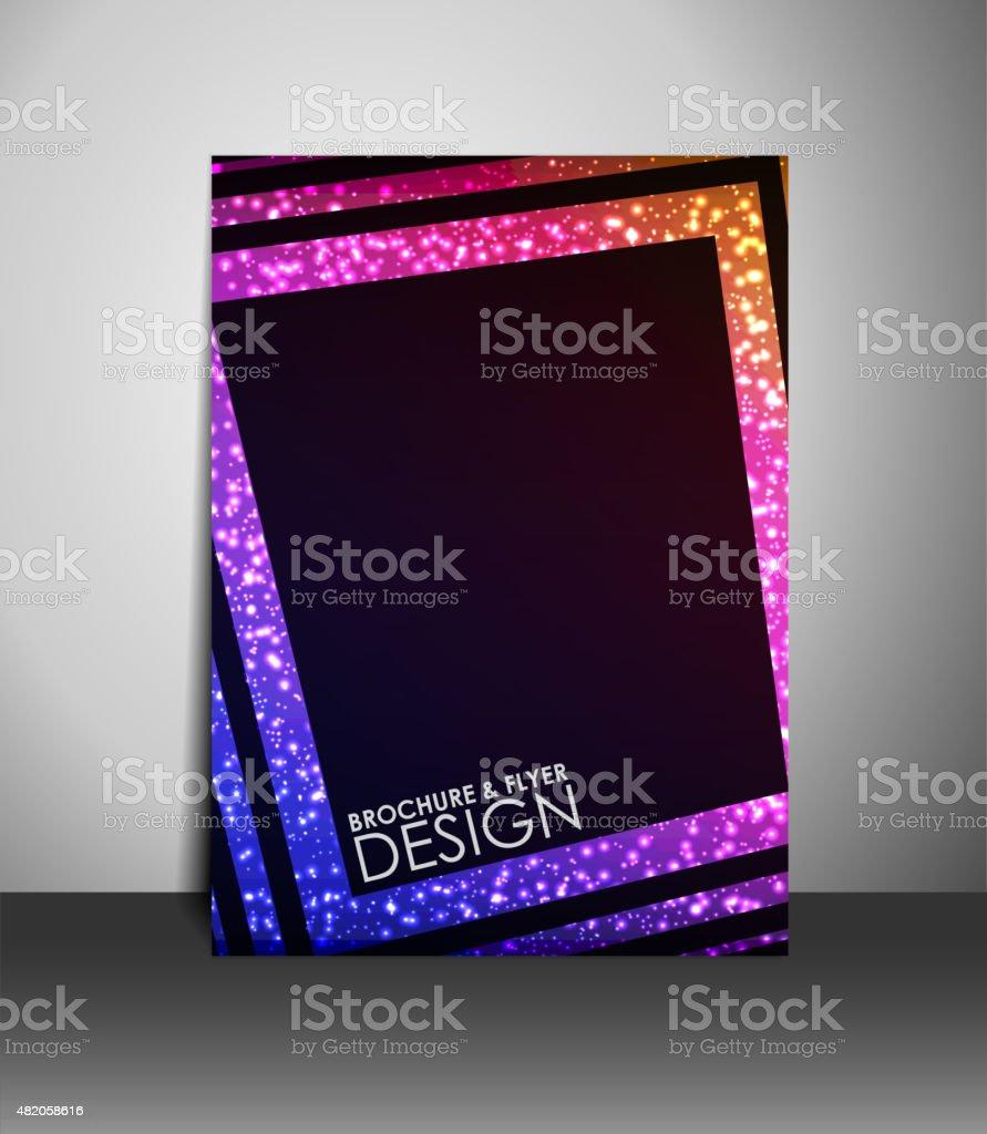 Flyer or brochure design. vector art illustration