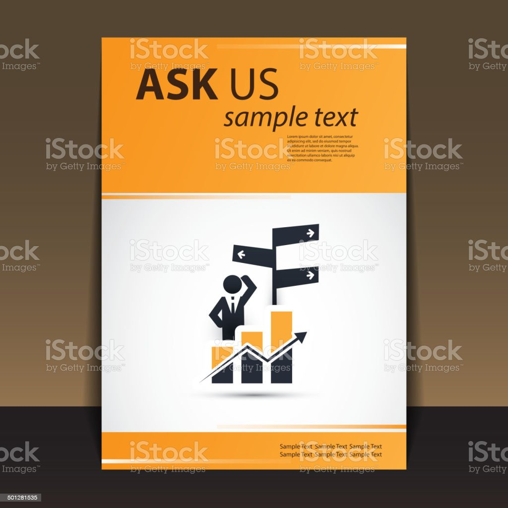 Flyer or Cover Design - Ask Us - Business Consulting vector art illustration