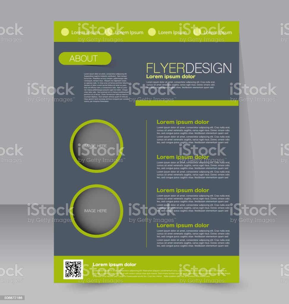 Flyer template. Business brochure. Editable A4 poster vector art illustration