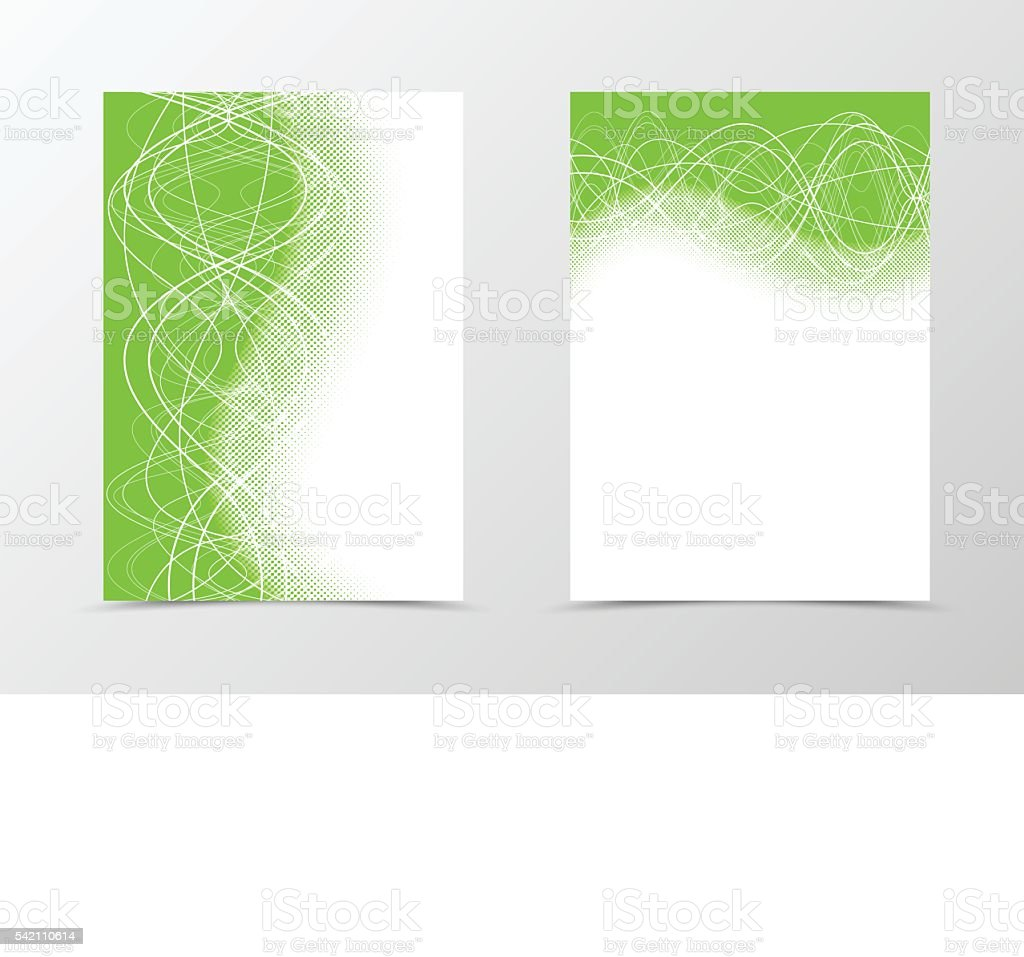 Flyer template design with halftone effect vector art illustration