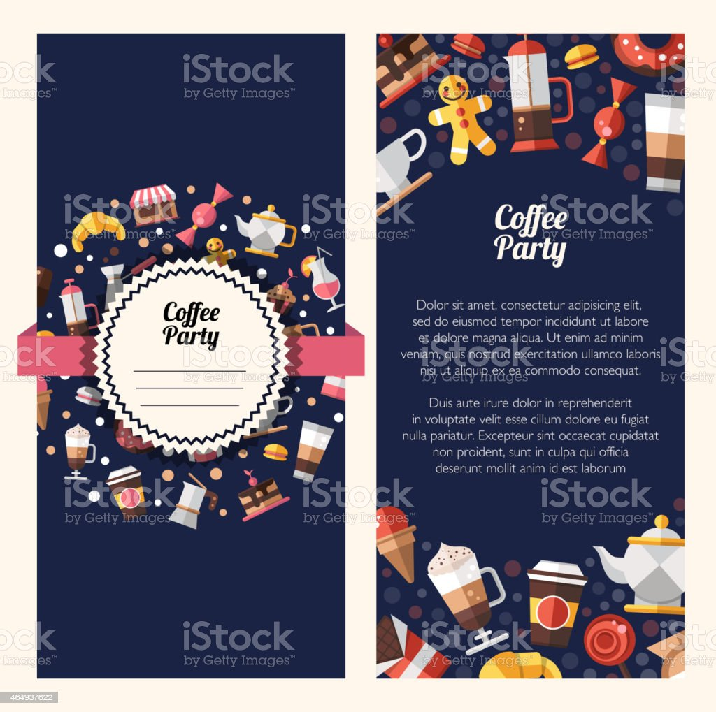 Flyer template of a coffee shop or cafe design vector art illustration