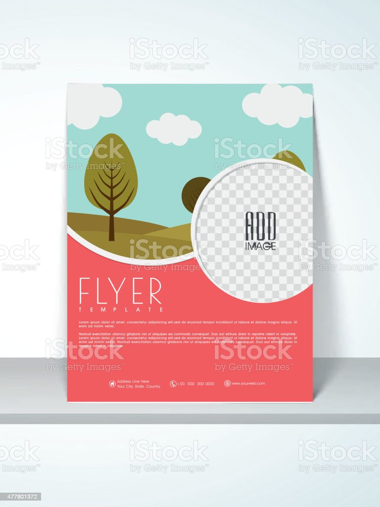Flyer, template or banner for Ecology. vector art illustration