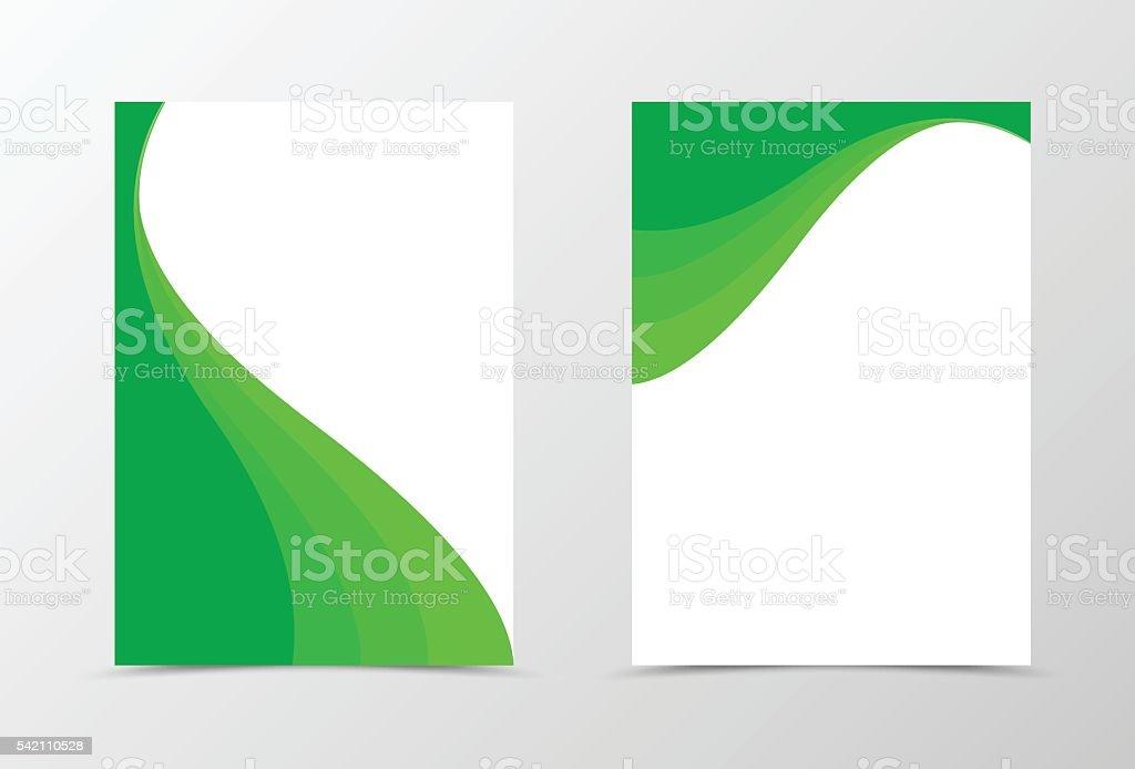 Flyer template spectrum design vector art illustration