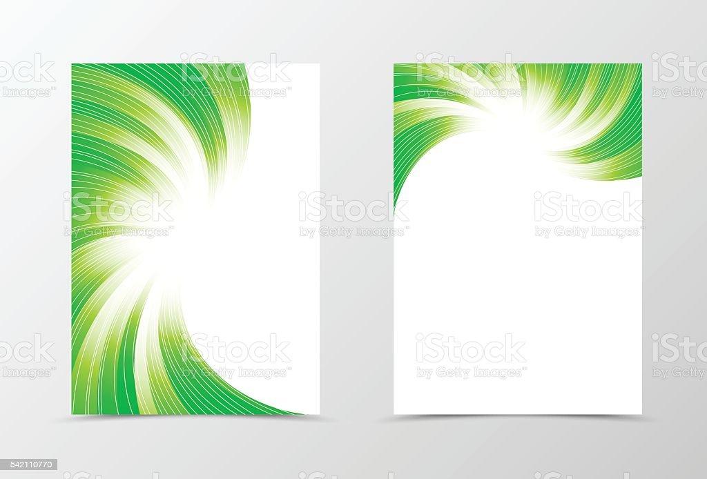 Flyer template swirl design vector art illustration