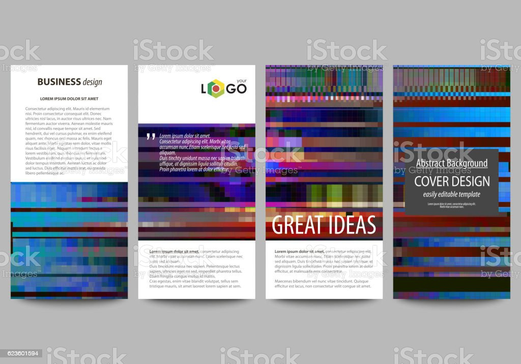 Flyers set, modern banners. Business templates. Cover design template, abstract vector art illustration