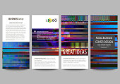 Flyers set, modern banners. Business templates. Cover design template, abstract