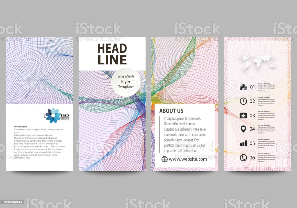 Flyers set, modern banners. Business templates. Cover design template, vector vector art illustration