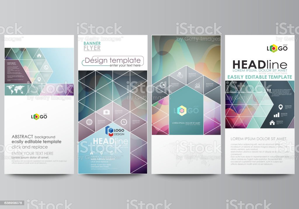 Flyers set, modern banners. Business templates. Cover design...